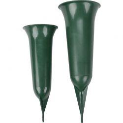 Grabvase mit Erdspieß, 26 cm