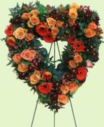 Blumendeko-Herz zum Stellen, offen, 50 cm