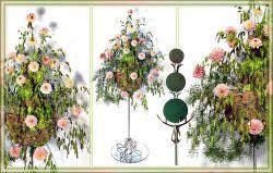 Blumensteckschaumkugeln, Nass, 15 cm, 4 Stck