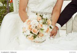 Brautstrauß - Manschette für Hochzeitsdekoration