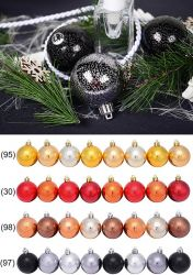 Christbaum-Kugeln, 6 cm, Kunststoff, 8 Stück