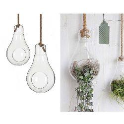 Glühbirnen - Vase, Glas,21 cm