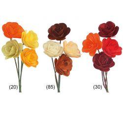 Holzrosen, 5,5 cm, 20 Blüten