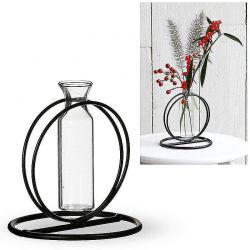 Metall-Ständer mit Glas-Vase,10 cm