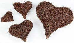 Reben-Herzen, 7,5 cm, 3 Stck