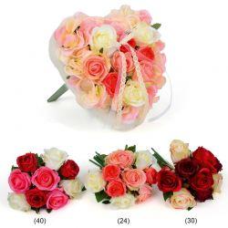 Rosenstrauß, künstlich, 25 cm