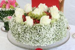 Runde Steckmasse-Torte, rund,  30 cm