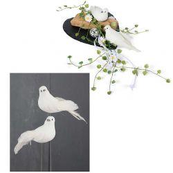 Taube am Draht, 25 cm, weiß