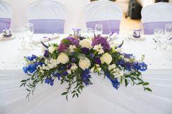Tisch-Deko: Blumen- Gesteckschale 33 cm lang