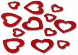 Deko-Konfetti-Herzen, rot, 15 g