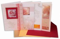 Goldene-Hochzeit -Karten, Motiv, 4 Stck